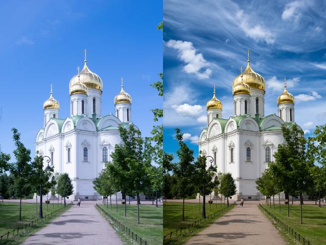 Как быстро заменить небо в Photoshop?